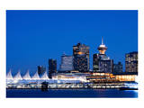 Vancouver Bc Evening Skyline Posters