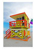 Art Deco Lifeguard Hut Florida Posters