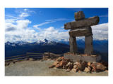 Inukshuk atop Mount Whistler Posters