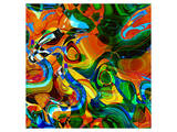Abstract Vibrant Pattern Premium Giclee Print