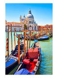 Canal Gondolas & Church Venice Prints