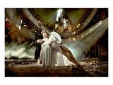 Ballet Dancer & Angel in Ruine Plakater