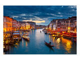 Grand Canal At Night, Venice Plakater