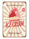 Vintage Tin Sign for Ice Cream Posters