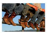 Wranglers boots at Rodeo Idaho Prints
