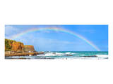 Rainbow over the Sea Panorama Poster