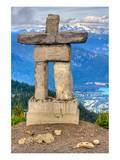 Inukshuk atop WhistlerMountain Prints