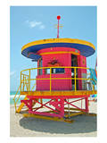 Art Deco Lifeguard Hut Florida Prints