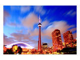 Toronto CN Tower At Night Art