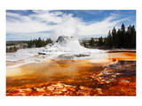 Castle Geyser Yellowstone Park Posters