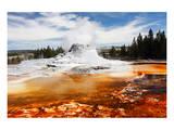 Castle Geyser Yellowstone Park Wydruk giclee premium