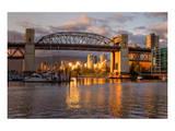 Vancouver-Burrard Bridge Dusk Prints
