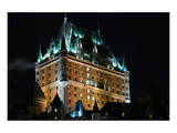 Chateau Frontenac At The Night Posters