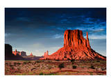 Monument Valley At Dusk Utah Poster