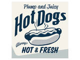 Vintage Clip Art - Hot Dog Print