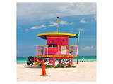 Red Lifeguardstand South Beach Prints