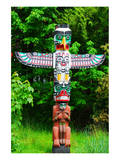 Totem Pole in Stanley Park Posters