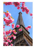 Spring Eiffel Tower Paris Posters