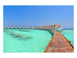Maldive Water Villa Panorama Prints