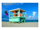 Lifeguard Tower in South Beach Prints