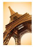 Eiffel Tower Sepia Paris France Affiches