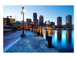 Boston Harbor & Downtown Dusk Print