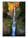 Sunset On Multnomah Falls Art