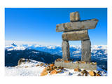 Inukshuk at Whistler Mountain Poster