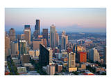 Seattle Skyline &Mount Rainier Art