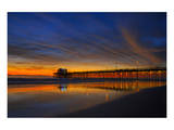 Newport Beach Pier at Sunset Poster