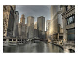 Chicago River Early Morning Posters