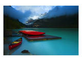 Rental Boats Lake Louise Banff Posters