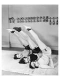 Three Women Exercising Prints