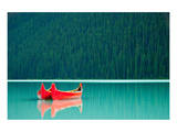 Canoes on Lake Louise Banff AB Posters