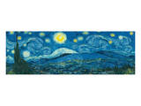 Starry Night Panorama Poster by Vincent van Gogh