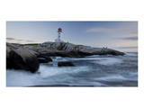 Peggys Cove Lighthouse Sunset Prints