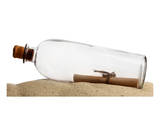 Glass Bottle With Note On Sand Posters