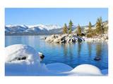 Snowy Covered Lake Tahoe Shore Prints