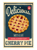 Vintage Cherry Pie Sign Print