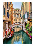 Scenic Canal Gondola Venice Prints