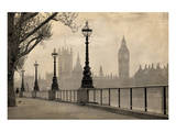 Vintage London Big Ben Thames Art