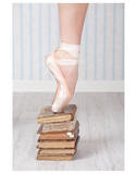 Ballerina Pointe on Old Books 高品質プリント