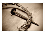 Jesus Crown of Thorns & Nail Affiche