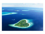 Maldivian Heart Shape Island Prints