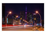 City Road Leading to CN Tower Poster