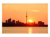 Toronto Sunrise Skyline & Lake Pósters