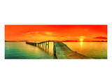Sunset Over The Sea & Pier Prints