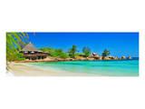 Seychelles-Turquoise Paradise Giclee-tryk i høj kvalitet