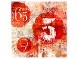Red Collage Grunge Elements Poster