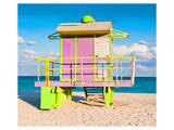 Lifeguard Tower South Beach FL Art